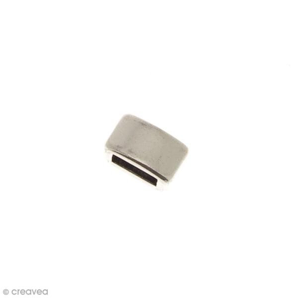 Passant Rectangulaire en métal - 8 mm - Ouverture de 5,2 x 2,2 mm - Photo n°1