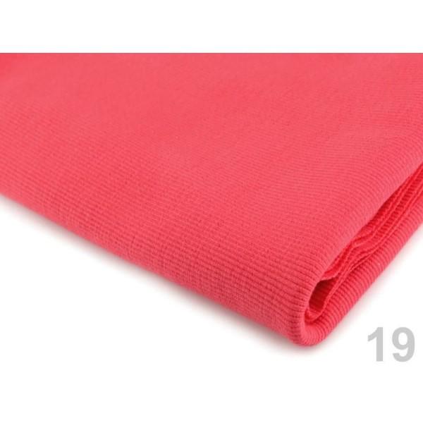 1m 19 (722) Corail Rouge Élastique Rib Tricot, le Bricolage de l'Artisanat, de l'Artisanat, du Tissu - Photo n°1