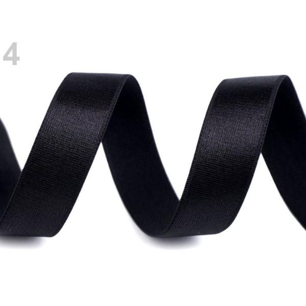 1m 4 Noir Satin Épaule Élastique Largeur 20mm, Tricot, Mercerie, - Photo n°1