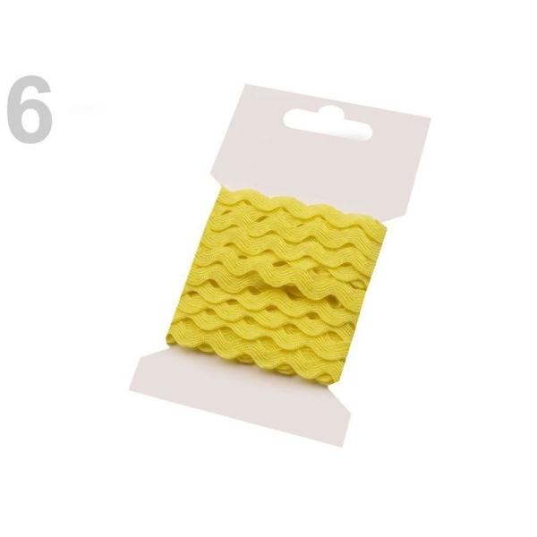 1bunch 6 Citron Ric Rac Garniture de Ruban de Largeur 5mm Grappes Par 3 M, d'Artisanat, de l'Artisan - Photo n°1
