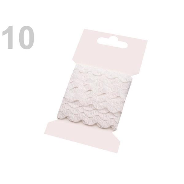 1bunch 10 Blanc Ric Rac Garniture de Ruban de Largeur 5mm Grappes Par 3 M, d'Artisanat, de l'Artisan - Photo n°1