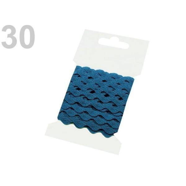 1bunch 30 Mosaïque Bleu Ric Rac Garniture de Ruban de Largeur 5mm Grappes Par 3 M, Zig Zag, de l'Art - Photo n°1