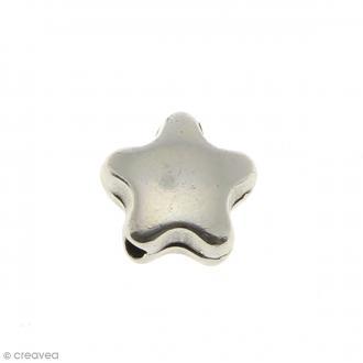 Passant Etoile en métal - 10 mm - Ouverture de 1,5 mm
