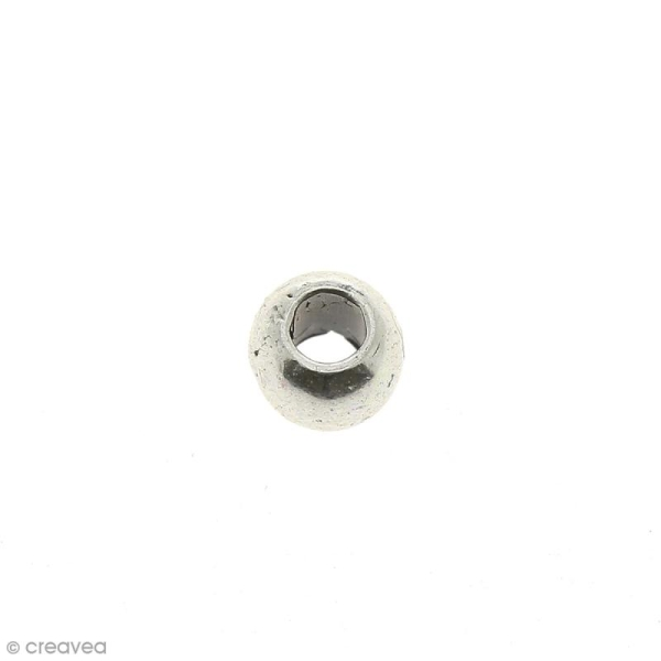 Perle intercalaire en métal 3,2 mm - Photo n°1