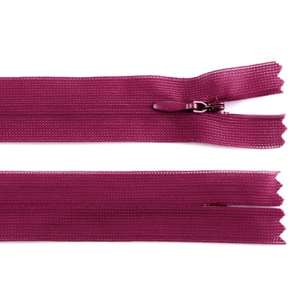 1pc 640 Ibis Rose Invisible en Nylon à fermeture éclair Largeur de 3mm Longueur 60 Cm Dederon, Bobin - Photo n°1