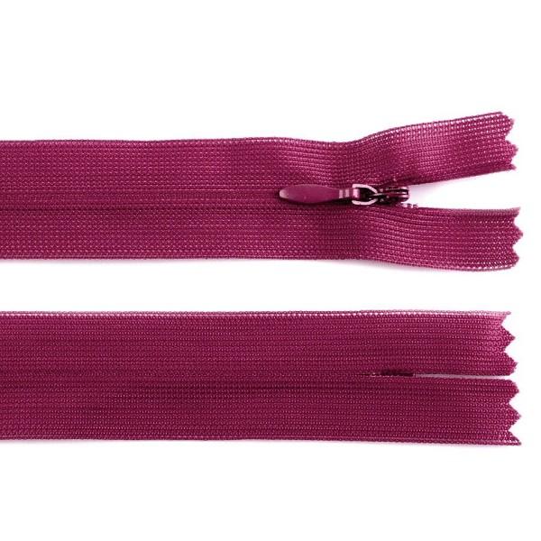 1pc 640 Ibis Rose Invisible en Nylon à fermeture éclair Largeur de 3mm Longueur 60cm Dederon, un Sac - Photo n°1