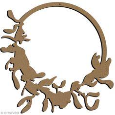 Couronne de Gui en bois à décorer - 38 cm