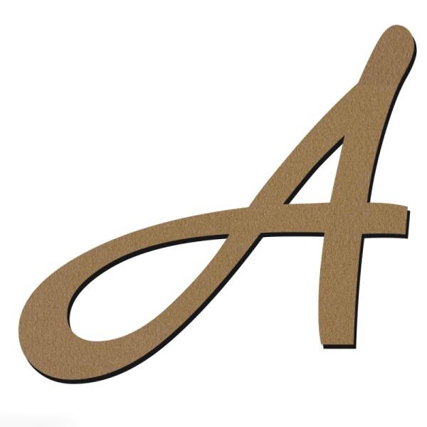 Lettre en bois 30 cm - Alphabet manuscrit - A Majuscule - Photo n°1