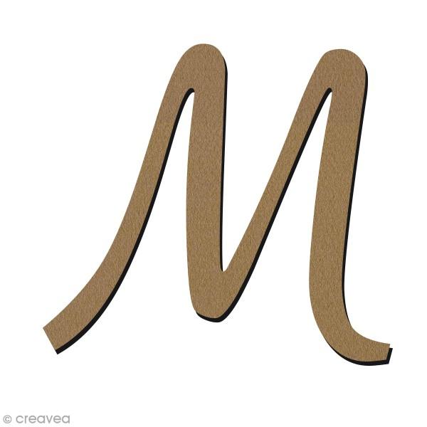 Lettre en bois 30 cm - Alphabet manuscrit - M Majuscule - Photo n°1