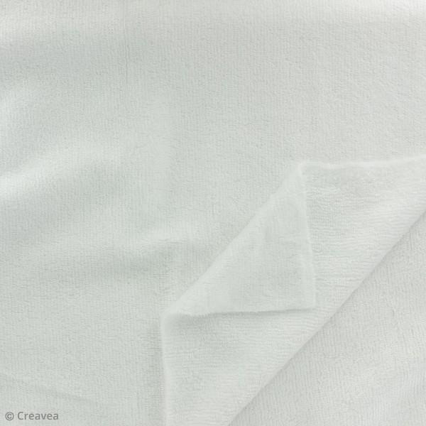 Tissu éponge de bambou - Blanc - Par 10 cm (sur mesure) - Photo n°2
