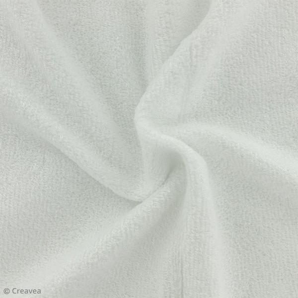 Tissu éponge de bambou - Blanc - Par 10 cm (sur mesure) - Photo n°1