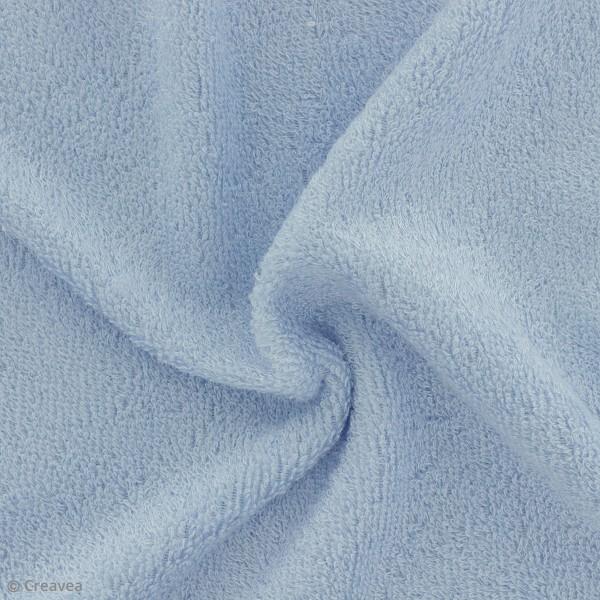 Tissu éponge de bambou - Bleu ciel - Par 10 cm (sur mesure) - Photo n°1
