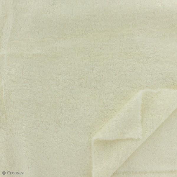 Tissu éponge de bambou - Ecru - Par 10 cm (sur mesure) - Photo n°2
