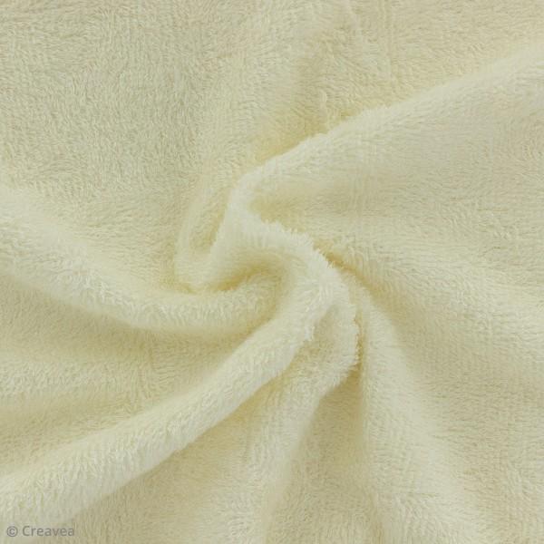Tissu éponge de bambou - Ecru - Par 10 cm (sur mesure) - Photo n°1