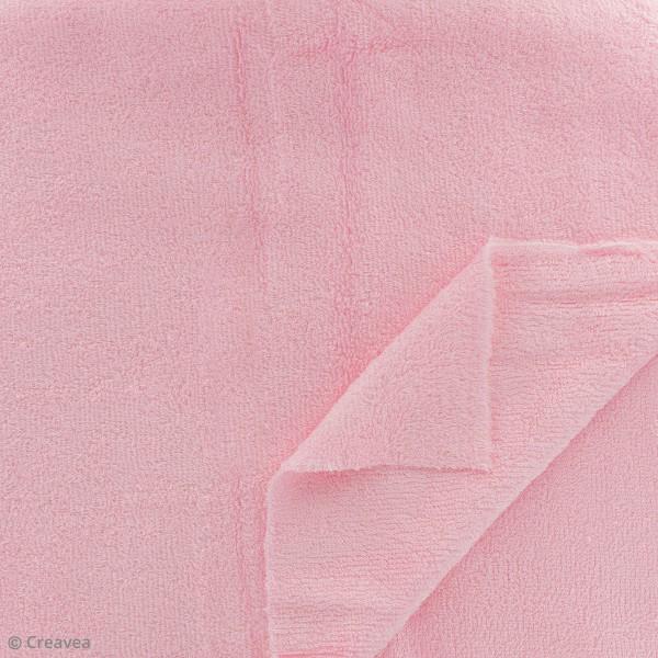 Tissu éponge de bambou - Rose - Par 10 cm (sur mesure) - Photo n°2