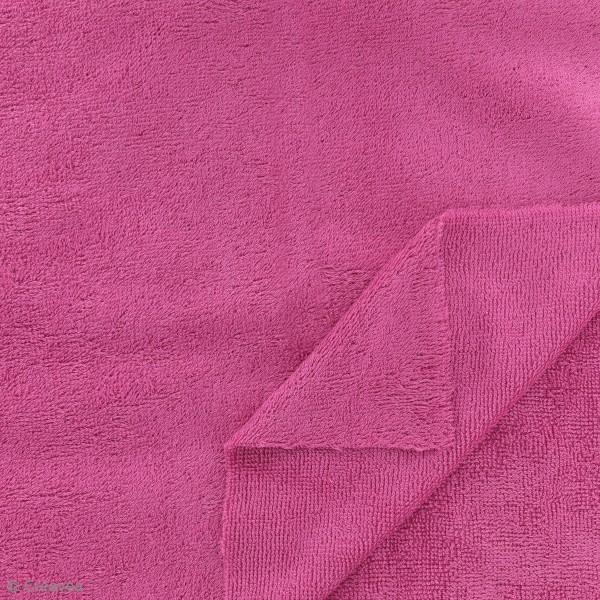 Tissu éponge de bambou - Fuchsia - Par 10 cm (sur mesure) - Photo n°2