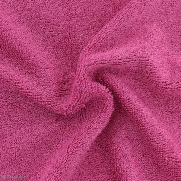 Tissu éponge de bambou - Fuchsia - Par 10 cm (sur mesure) - Photo n°1