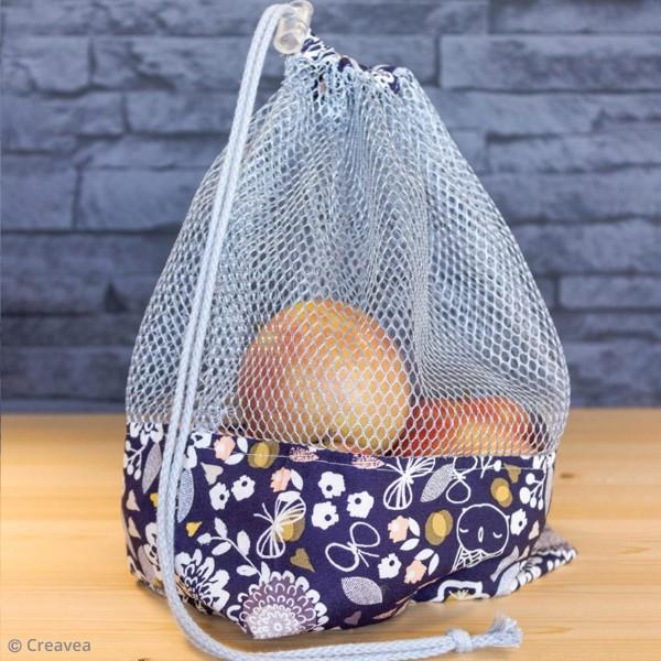 Tissu filet Mesh fabric - Gris - Par 10 cm (sur mesure) - Photo n°2