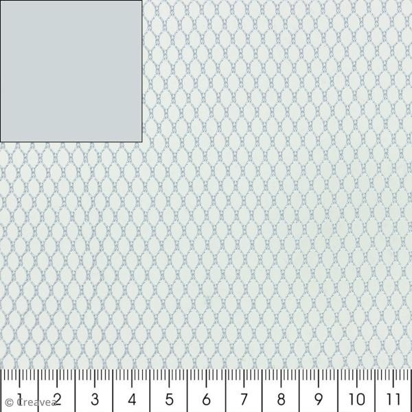 Tissu filet Mesh fabric - Gris - Par 10 cm (sur mesure) - Photo n°1
