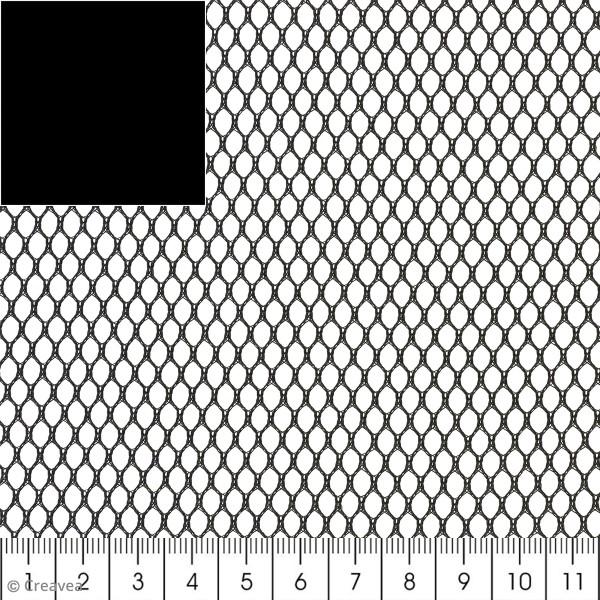 Tissu filet Mesh fabric - Noir / Gris - Par 10 cm (sur mesure) - Photo n°1