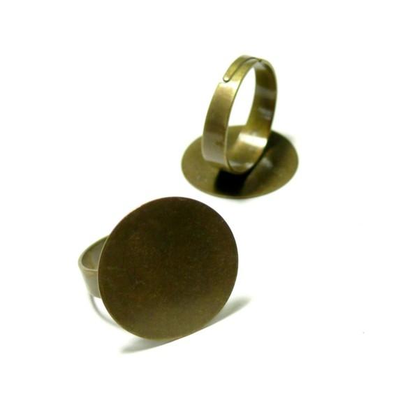 BN114782 PAX 10 supports bague plateau lisse 20mm Laiton couleur Bronze - Photo n°1