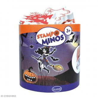 Kit Stampo Minos - Halloween - 13 tampons + 1 encreur noir