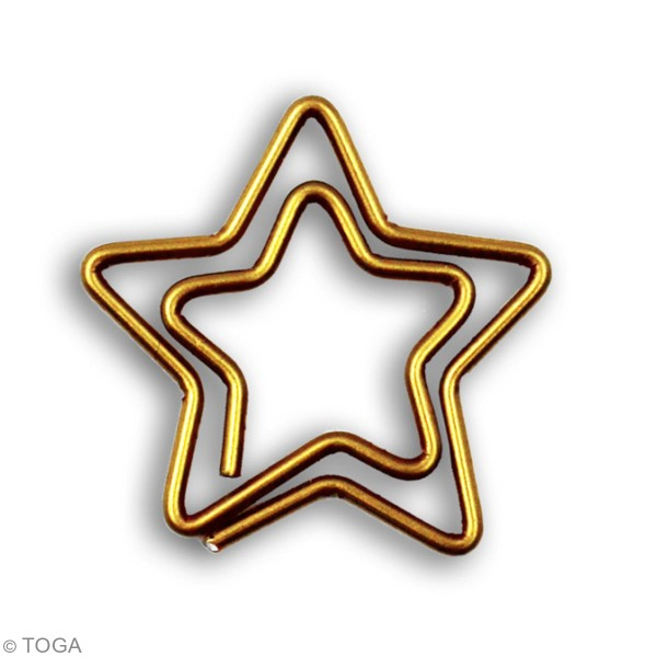 Trombones Étoile dorée - 2,5 cm - 20 pcs - Photo n°3