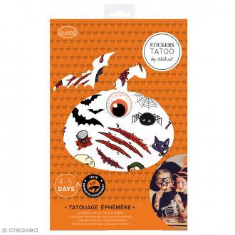 Tatouages temporaires pour enfants - Halloween - 35 motifs