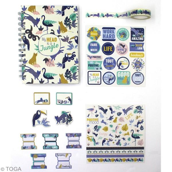 Kit Papeterie Creative Vibes - Jungle Tropical - 51 pcs - Photo n°2