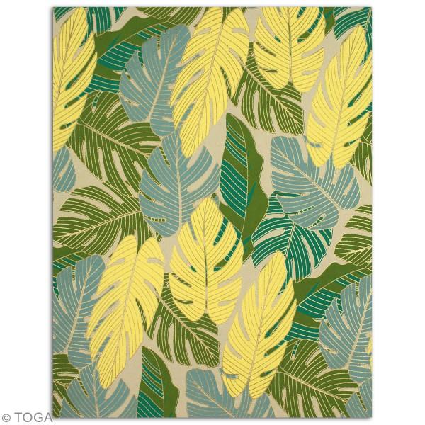 Papier recyclé l'Or de Bombay - Vert et jaune - 27,8 x 21,6 cm - 6 feuilles - Photo n°2