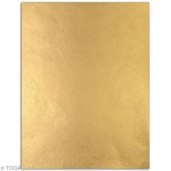 Papier recyclé l'Or de Bombay - Vert et jaune - 27,8 x 21,6 cm - 6 feuilles - Photo n°4