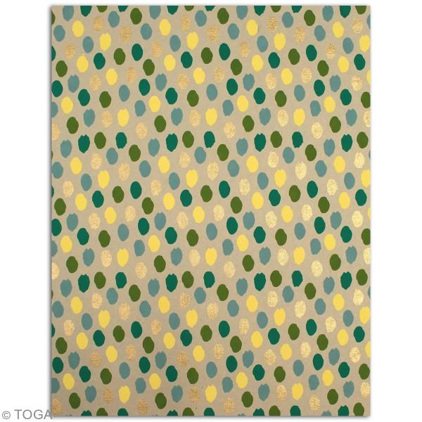 Papier recyclé l'Or de Bombay - Vert et jaune - 27,8 x 21,6 cm - 6 feuilles - Photo n°6