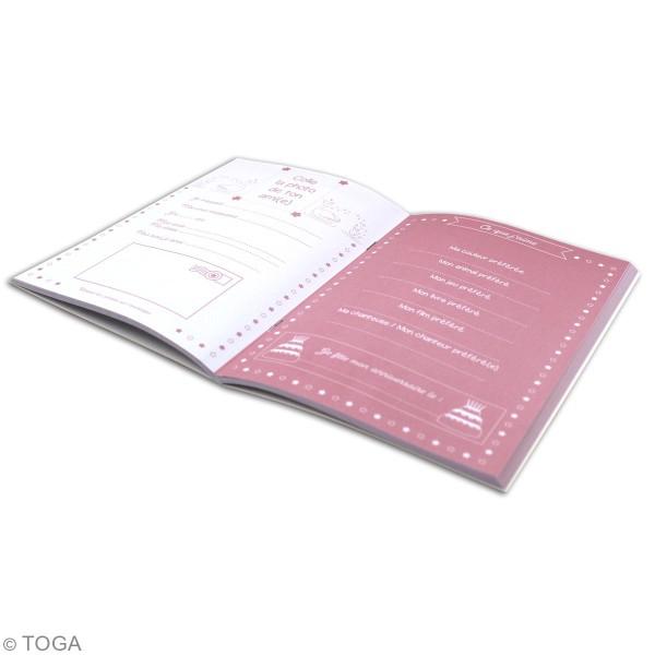 Kit Papeterie Mon carnet d'amitié - Cygnes - 90 pcs - Photo n°4