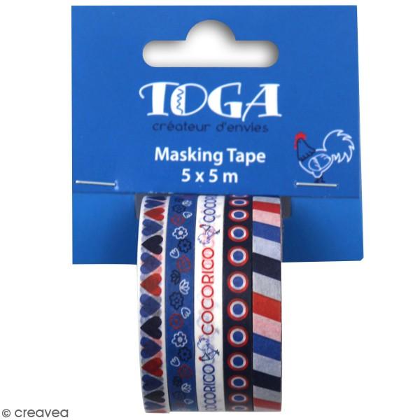 Assortiment de masking tape - Frenchy - 5 pcs - Photo n°1