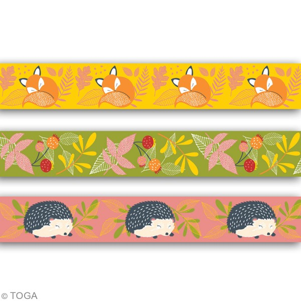 Assortiment de masking tape - Foxy - 4 pcs - Photo n°3