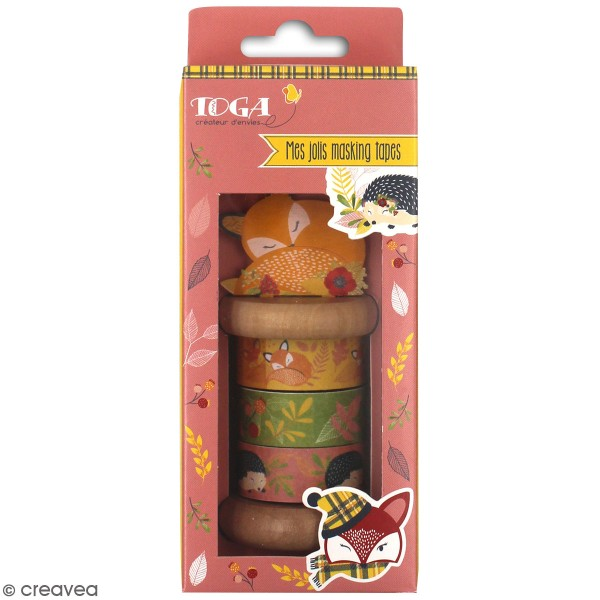 Assortiment de masking tape - Foxy - 4 pcs - Photo n°1