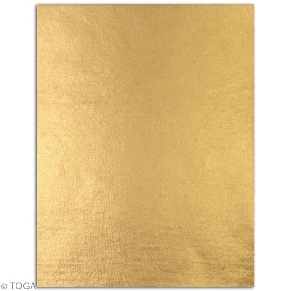 Papier recyclé l'Or de Bombay - Vert et bleu - 27,8 x 21,6 cm - 6 feuilles - Photo n°3