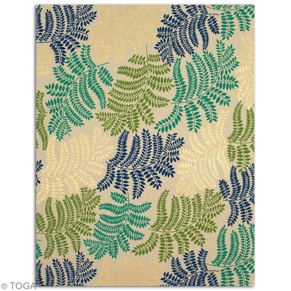Papier recyclé l'Or de Bombay - Vert et bleu - 27,8 x 21,6 cm - 6 feuilles - Photo n°4