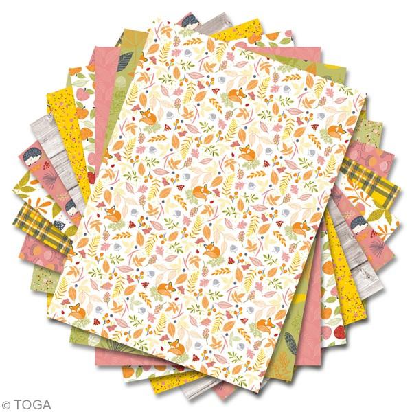 Papier scrapbooking A4 Toga - Color Factory - Foxy - 36 pcs - Photo n°2