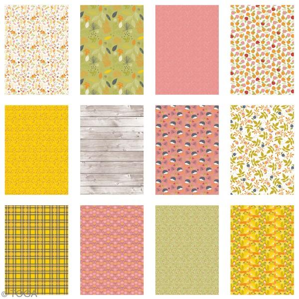 Papier scrapbooking A4 Toga - Color Factory - Foxy - 36 pcs - Photo n°3
