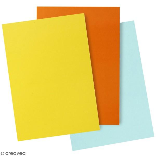 Papier glacé - Différents coloris - 32 x 48 cm - 25 feuilles - Photo n°1