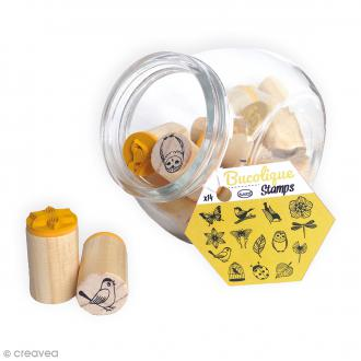 Kit Stampo Bocal - Bucolique - 14 tampons et 1 encreur