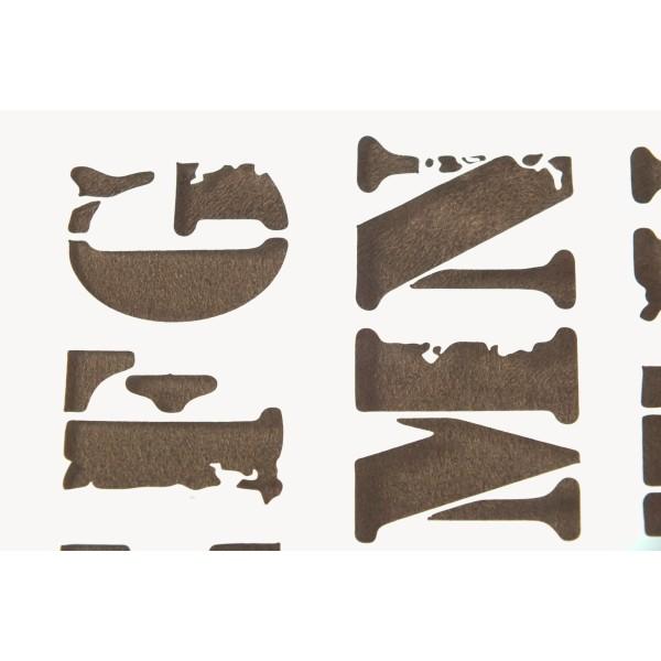 POCHOIR PLASTIQUE Format A4 (21*29.7cm) Alphabet