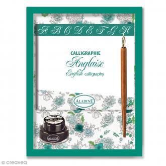 Coffret calligraphie Anglaise - 1 plume et un encrier