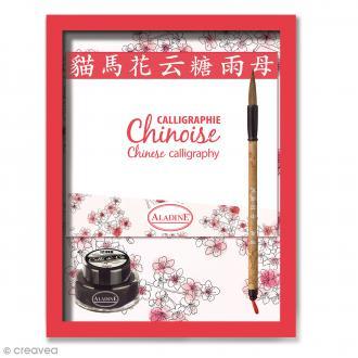 Coffret calligraphie Chinoise - 1 plume et un encrier