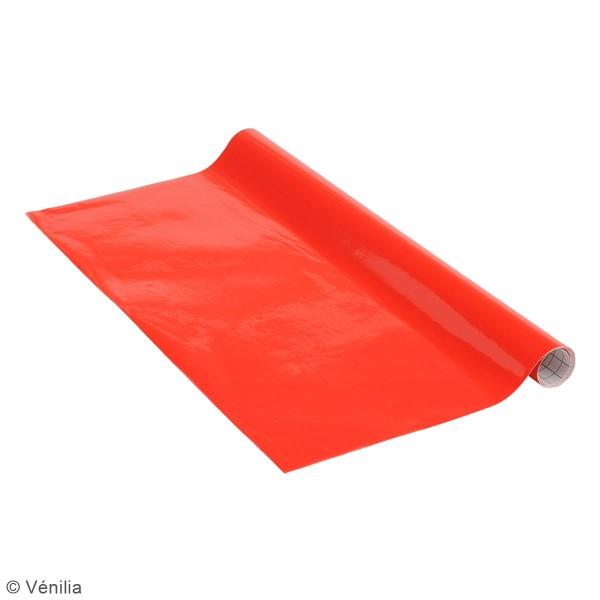 Adhésif brillant Venilia Basicline - Rouge - 150 x 45 cm - Photo n°3