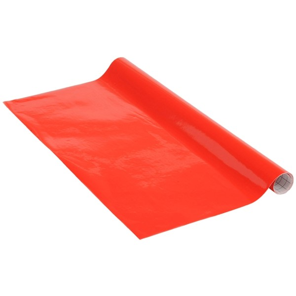 Adhésif brillant Venilia Basicline - Rouge - 150 x 45 cm - Photo n°1