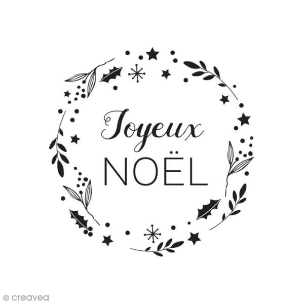 Tampon Bois Couronne Joyeux Noël 55 X 35 Cm