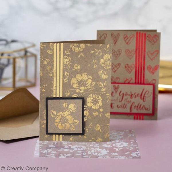 Cartes 10,5 x 15 cm et enveloppes - 6 sets - Photo n°2