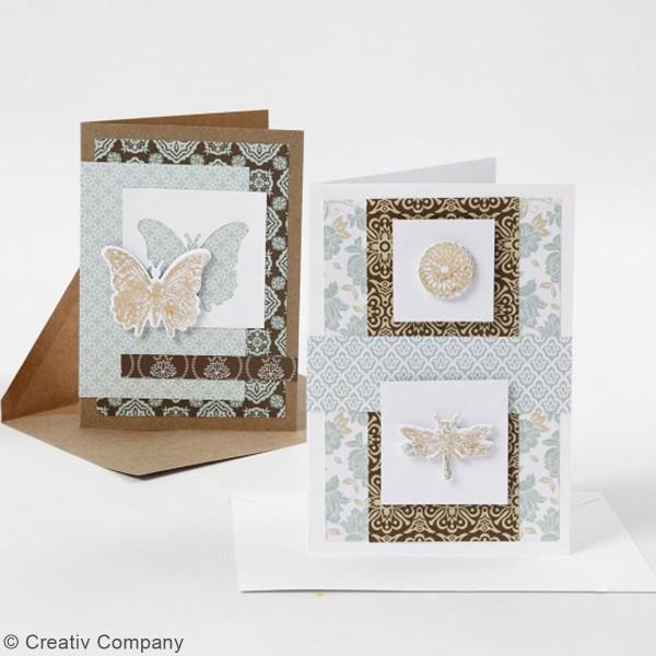 Cartes 10,5 x 15 cm et enveloppes - 6 sets - Photo n°3